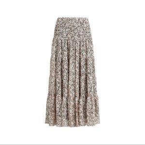 Ralph Lauren Moriah Floral Ruffle Maxi Skirt